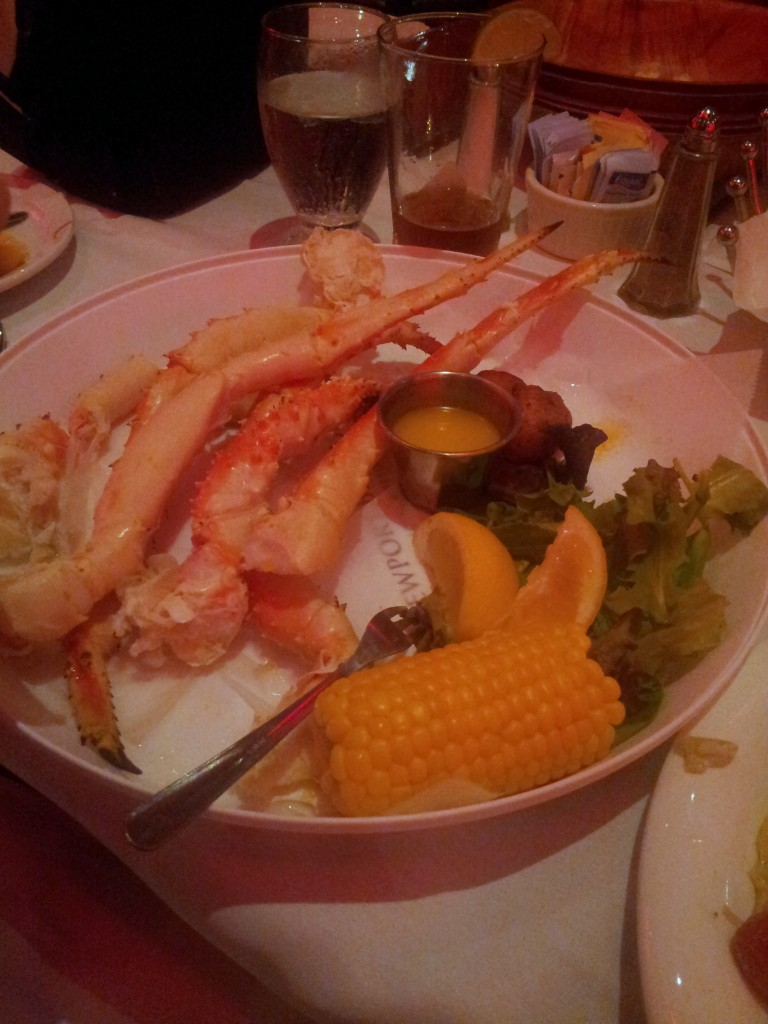 King Crab, Caesar Salad, Duck Quesadilla