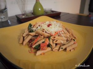 Spicy Pasta with Spinach